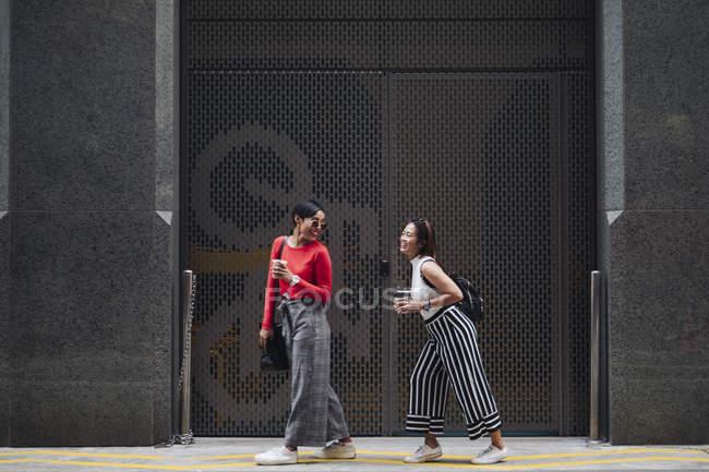 Jovem asiático feminino amigos ter diversão — Fotografia de Stock