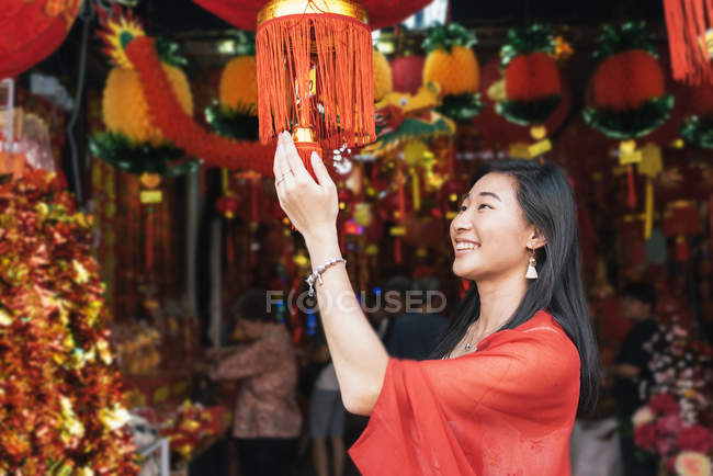 Asian Chinese woman at Chinatown — Stock Photo