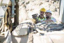 Two quarry worker — Stock Photo