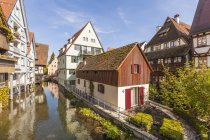 Historical houses at River Blau — Stock Photo