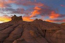 Песчаник скальное образование — стоковое фото