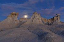 США, Нью-Мексико, Сан Хуан бассейна, Долина мечты, бесплодные, Ah Ши sle тьфу мыть, песчаника скальное образование, дикий — стоковое фото