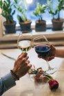 Couple toasting with wine — Stock Photo
