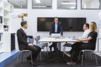 Business people having meeting — Stock Photo