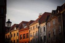 Дома в старом городе, Торунь — стоковое фото