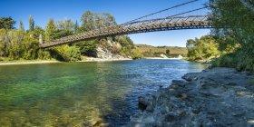 Puente colgante de Clifden - foto de stock