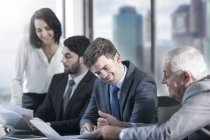 Businesspeople in meeting at office — Stock Photo