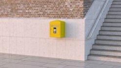 Поштову скриньку на бетонну стіну — стокове фото