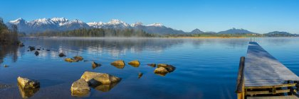Lake Hopfensee in morning — Stock Photo