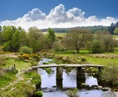 East Dart River at Dartmoor National Park — Stock Photo