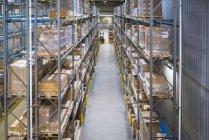 Інтер'єр високі стійки склада — стокове фото