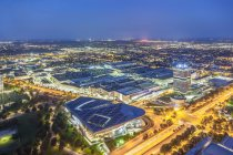 Olympic Park at night,Munich — Stock Photo