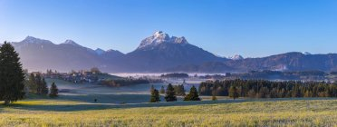 Ammergau Alps panorama in morning — Stock Photo