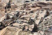 Vista aerea di sabbia miniera — Foto stock