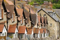 UK, Beer, row of terraced houses — Stock Photo