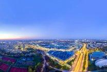 Cityscape near Olympic Park, Munich — Stock Photo