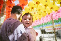 Vater mit einem Baby girl — Stockfoto