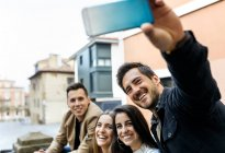 Group of friends taking selfie — Stock Photo