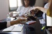 Coffee break during meeting — Stock Photo