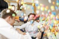 Playful creative professionals meeting — Stock Photo