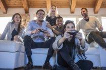Freunde, Computerspiel — Stockfoto