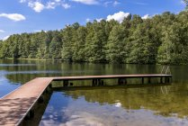 Empty jetty at Pipersee — Stock Photo