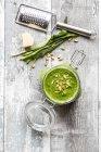 Hausgemachtes Ramson Pesto — Stockfoto