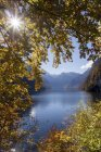 Lake Koenigssee at autumn — Stock Photo