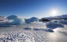 Paesaggio ghiacciato in un ghiacciaio — Foto stock