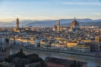 Cityscape with Palazzo Vecchio, Florence — Stock Photo