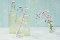 Homemade elderflower sirup — Stock Photo