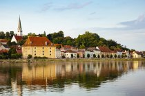 Austria, Mauthausen, View from Danube river — Stock Photo