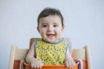 Baby girl looking at camera — Stock Photo