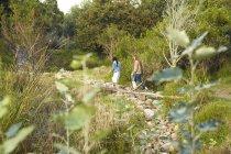 Femmes de marcher dans la nature — Photo de stock