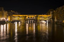 Ponte Vecchio by night, Florence — Stock Photo