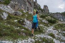 Trailläuferin — Stockfoto
