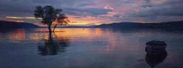 Coucher de soleil sur le lac de Constance — Photo de stock