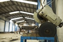 Circular saw in industrial hall — Stock Photo