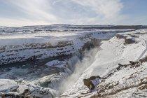 Гульфосс зимой, Исландия — стоковое фото