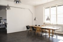 Daytime view of empty conference room in loft — Stock Photo