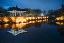Donggung дворец и Wolji пруд — стоковое фото