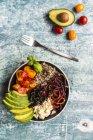 Обід миску квіноа tricolore — стокове фото