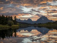 Tramonto a Oxbow Bend — Foto stock