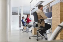 Business people working in creative office — Stock Photo