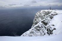 Una vista del globo a Capo Nord — Foto stock