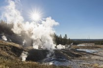USA, United States of America, Wyoming, Montana, Idaho, Yellowstone National Park, Norris Geyser Basin — Stock Photo