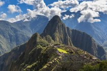 South America, Peru, Andes, Mountains landscape with Machu Picchu view — Stock Photo