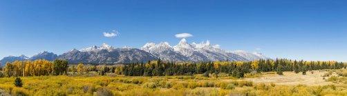 É.-u., États-Unis d'Amérique, Wyoming, Teton Range, montagnes Rocheuses, Parc National de Grand Teton — Photo de stock