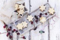 Christmas cookies star shaped — Stock Photo