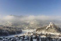 Impresiones de invierno del lago Chiemsee, Baviera, Alemania, Europa - foto de stock